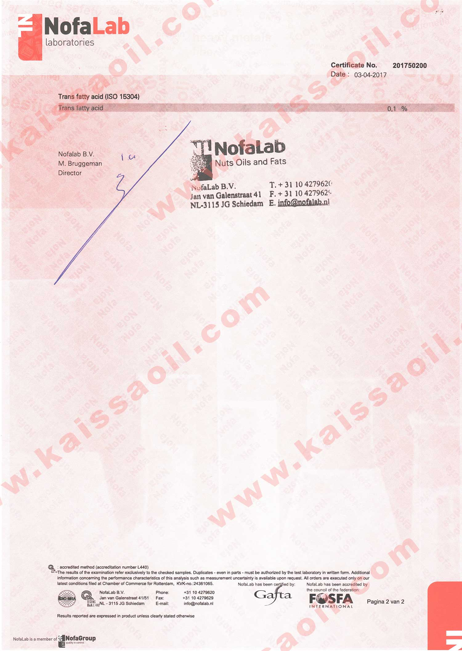 Certificate ISO15304