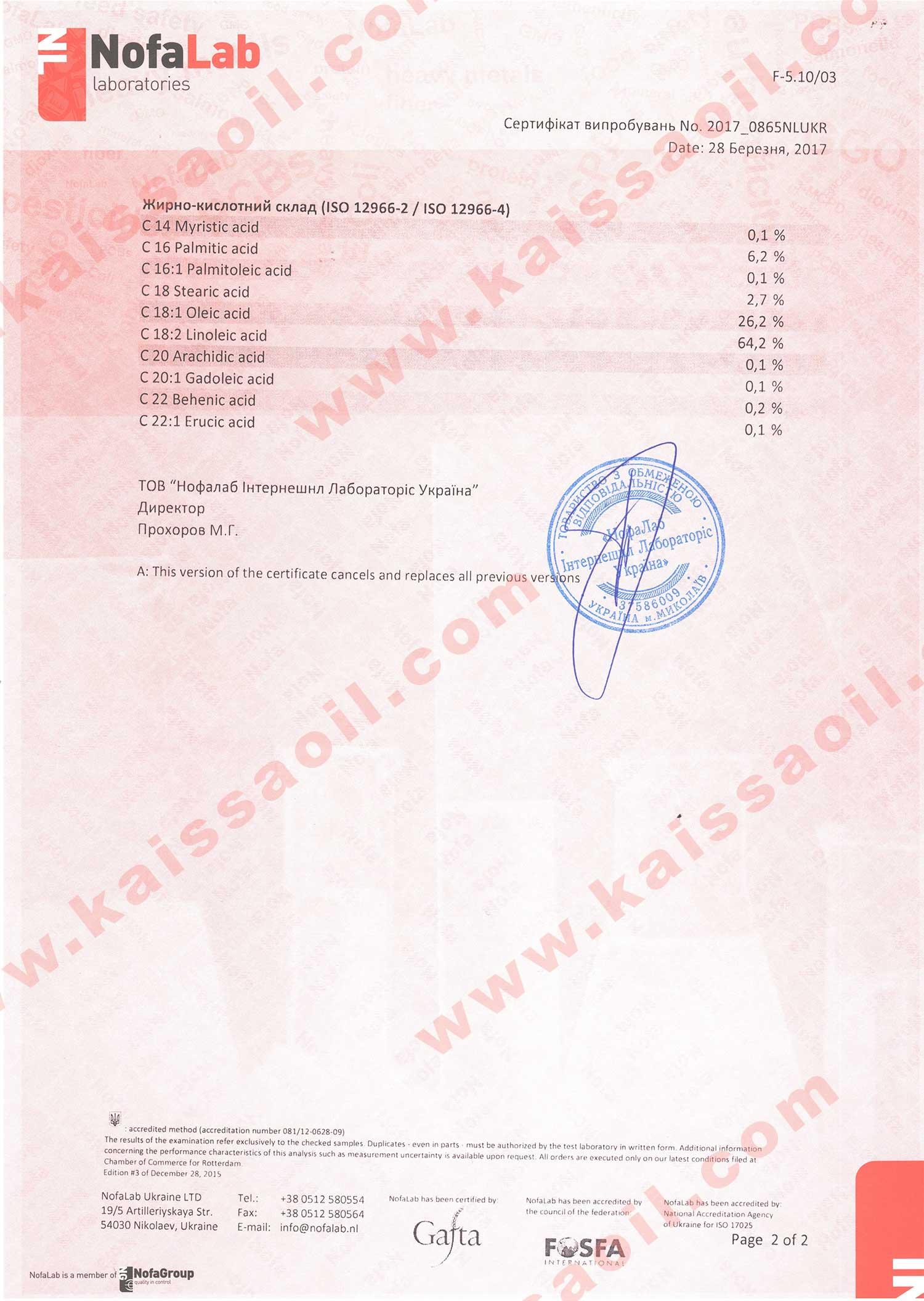 Сертификат ISO12966-2