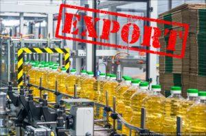В Украине сокращен экспорт подсолнечного масла