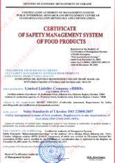 Certificate HACCP