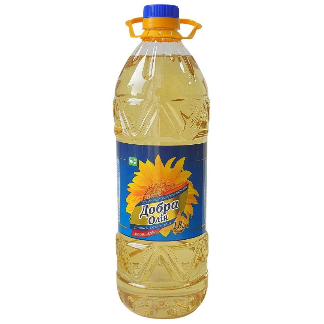 BOTTLE 1,8 liter Sunflower refined oil