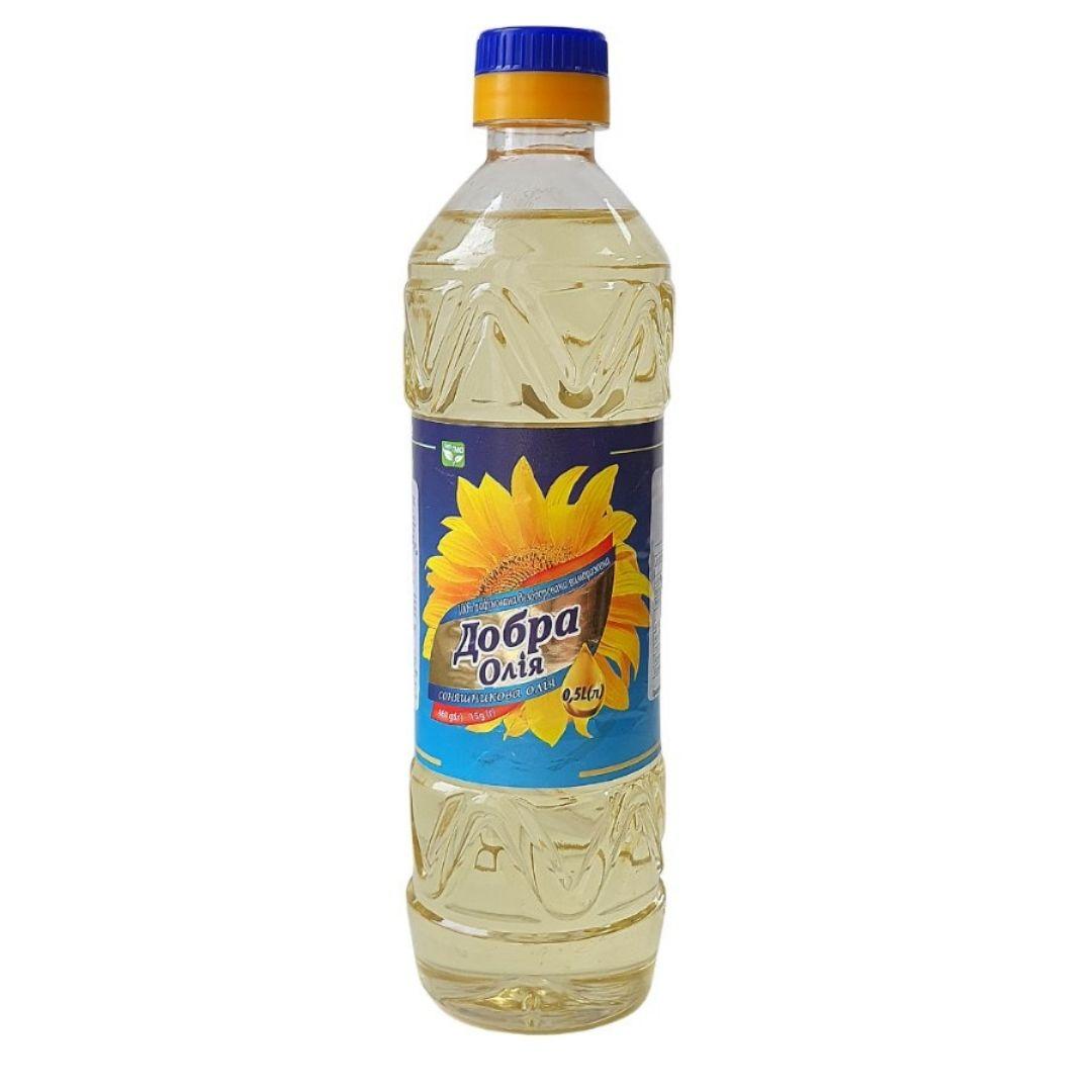 BOTTLE 0,5 l Sunflower refined oil
